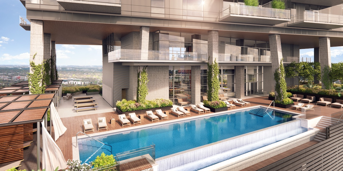 Luxury Pool at Rainey Street Condos in Austin