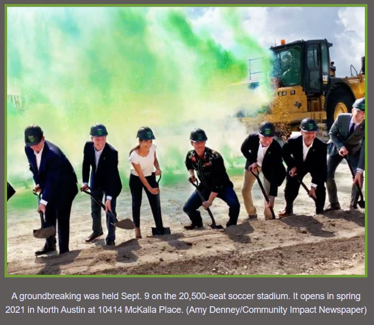 Austin FC Stadium Ground Breaking